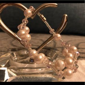 Pink Pearl Magnetic Clasp Bracelet